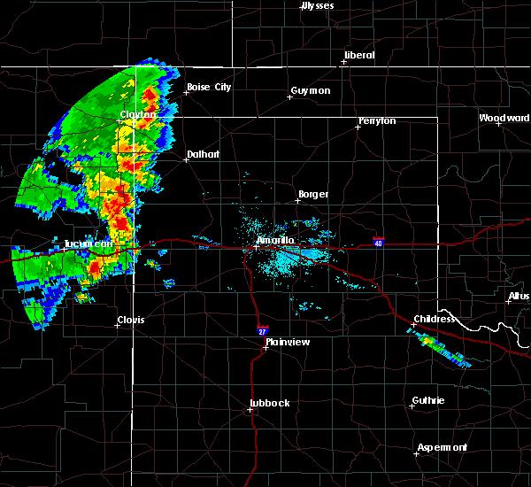 Radar Image for Severe Thunderstorms near Boise City, OK at 7/4/2020 9:41 PM CDT