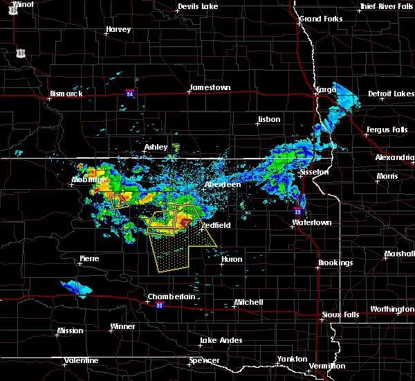 Radar Image for Severe Thunderstorms near Rockham, SD at 7/4/2020 9:51 PM CDT