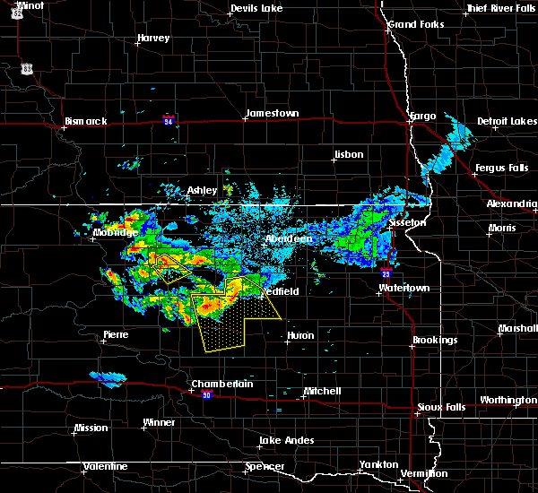 Radar Image for Severe Thunderstorms near Rockham, SD at 7/4/2020 10:10 PM CDT