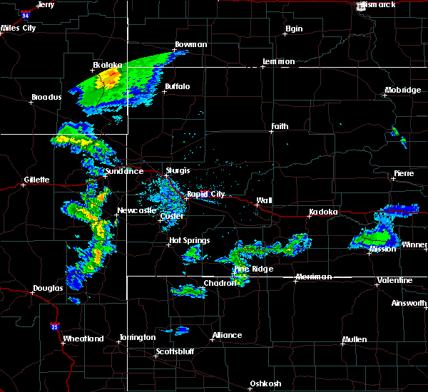Radar Image for Severe Thunderstorms near Buffalo, SD at 7/4/2020 9:16 PM MDT