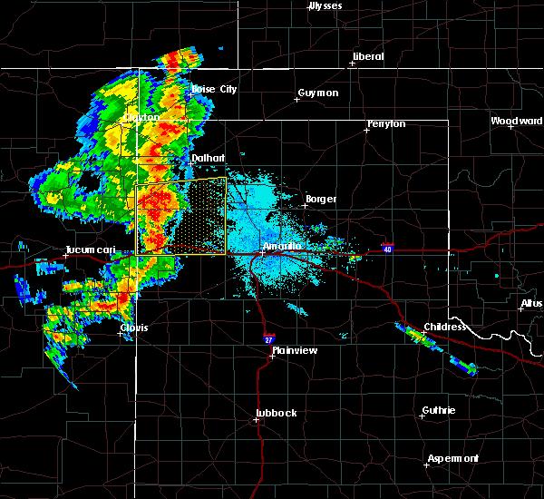 Radar Image for Severe Thunderstorms near Vega, TX at 7/4/2020 10:29 PM CDT