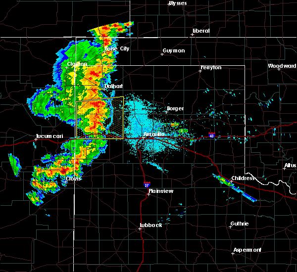 Radar Image for Severe Thunderstorms near Vega, TX at 7/4/2020 10:57 PM CDT