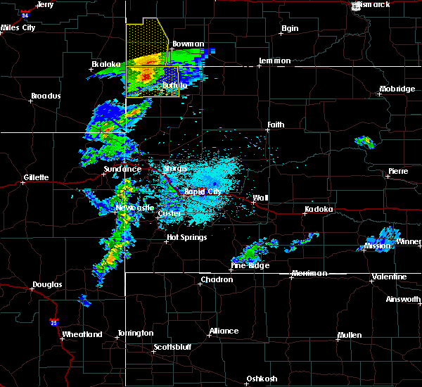 Radar Image for Severe Thunderstorms near Buffalo, SD at 7/4/2020 9:58 PM MDT