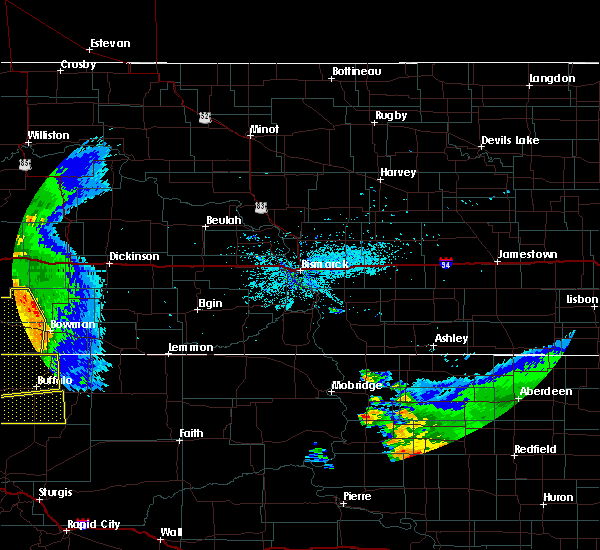 Radar Image for Severe Thunderstorms near Amidon, ND at 7/4/2020 10:12 PM MDT