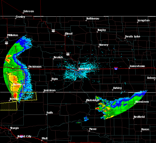 Radar Image for Severe Thunderstorms near Amidon, ND at 7/4/2020 10:29 PM MDT