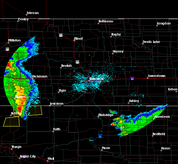Radar Image for Severe Thunderstorms near Amidon, ND at 7/4/2020 10:41 PM MDT
