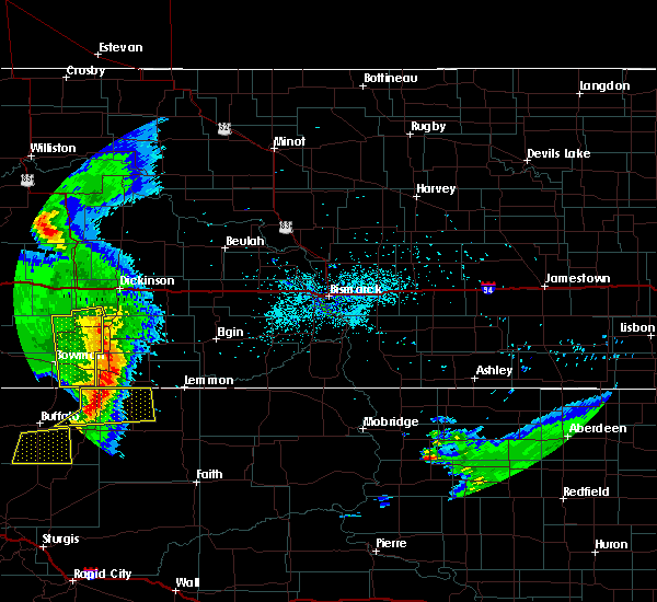 Radar Image for Severe Thunderstorms near Amidon, ND at 7/4/2020 10:58 PM MDT