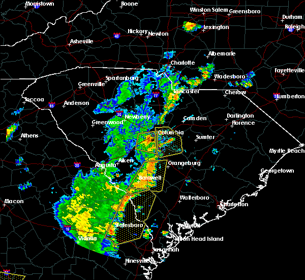Radar Image for Severe Thunderstorms near Hopkins, SC at 6/30/2015 4:50 PM EDT