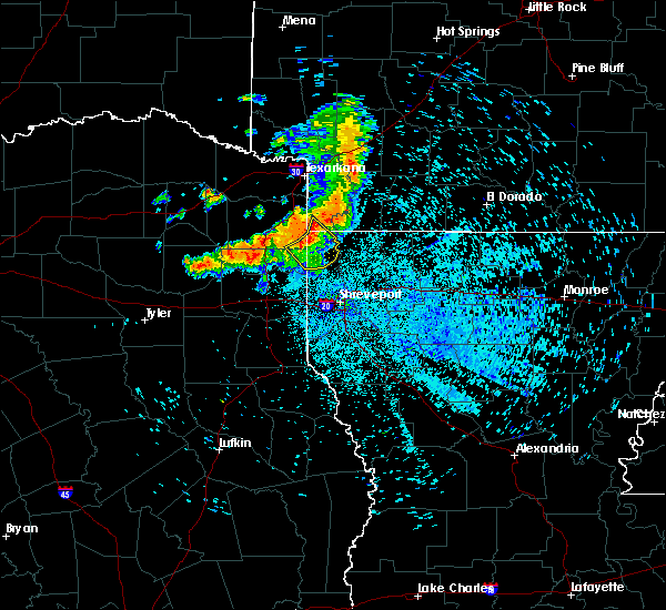 Radar Image for Severe Thunderstorms near Vivian, LA at 7/5/2020 2:53 AM CDT