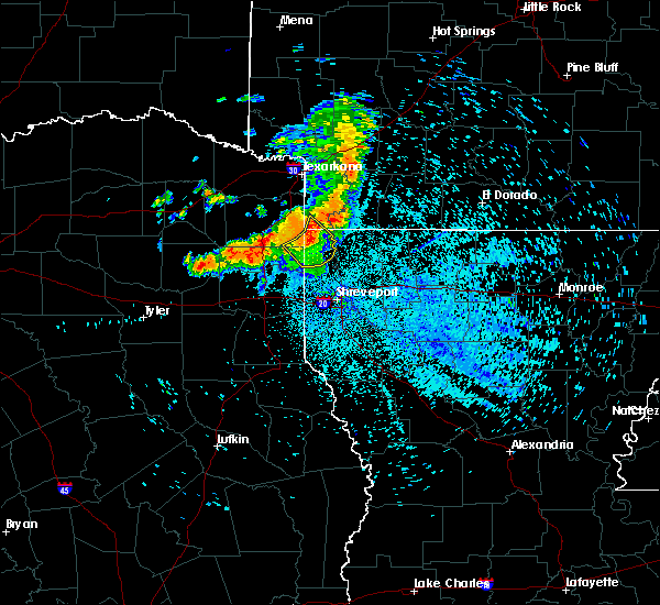 Radar Image for Severe Thunderstorms near Uncertain, TX at 7/5/2020 2:57 AM CDT