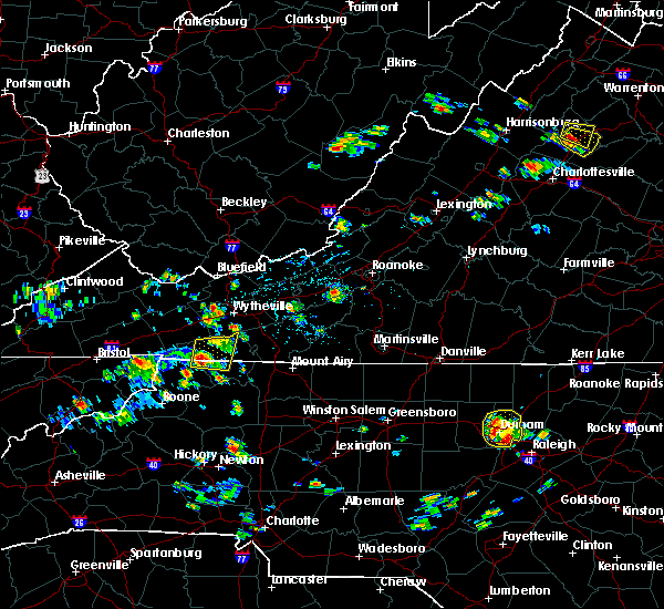 Radar Image for Severe Thunderstorms near Independence, VA at 7/5/2020 2:21 PM EDT