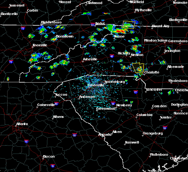 Radar Image for Severe Thunderstorms near Charlotte, NC at 7/5/2020 2:45 PM EDT