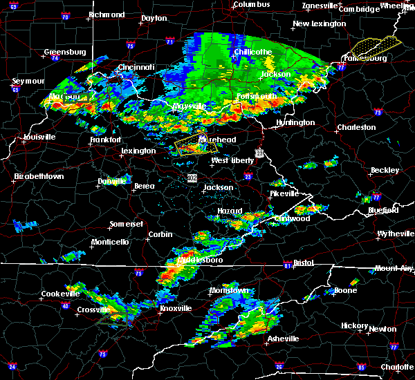 Radar Image for Severe Thunderstorms near Morehead, KY at 6/30/2015 4:55 PM EDT