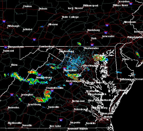 Radar Image for Severe Thunderstorms near Front Royal, VA at 7/5/2020 4:21 PM EDT