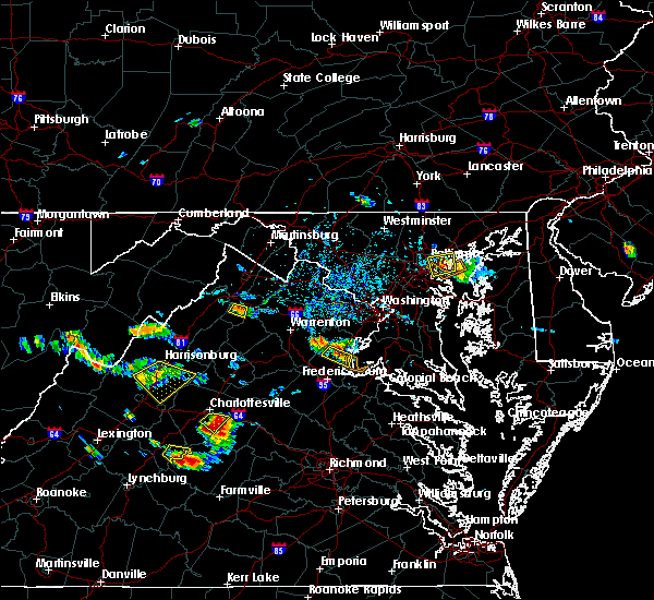 Radar Image for Severe Thunderstorms near Rosedale, MD at 7/5/2020 4:29 PM EDT