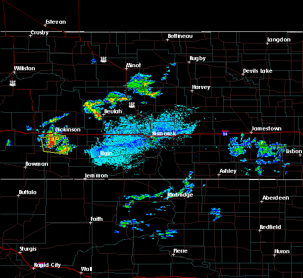 Radar Image for Severe Thunderstorms near New England, ND at 7/5/2020 2:32 PM MDT