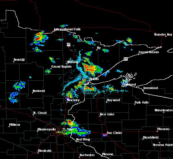 Radar Image for Severe Thunderstorms near Littlefork, MN at 7/5/2020 3:33 PM CDT