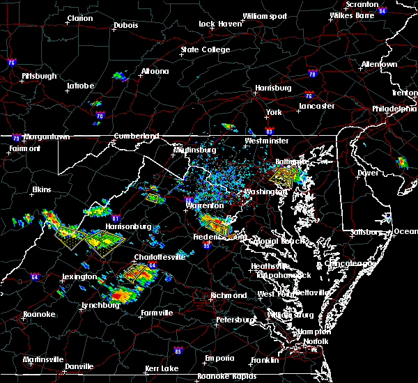 Radar Image for Severe Thunderstorms near Quantico Base, VA at 7/5/2020 4:42 PM EDT
