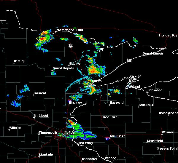 Radar Image for Severe Thunderstorms near Littlefork, MN at 7/5/2020 3:46 PM CDT