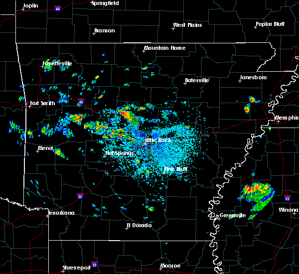 Radar Image for Severe Thunderstorms near Atkins, AR at 7/5/2020 3:52 PM CDT