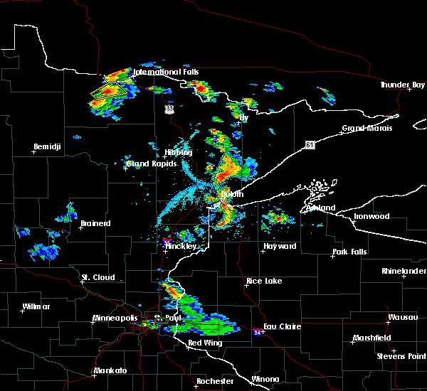 Radar Image for Severe Thunderstorms near Littlefork, MN at 7/5/2020 3:58 PM CDT