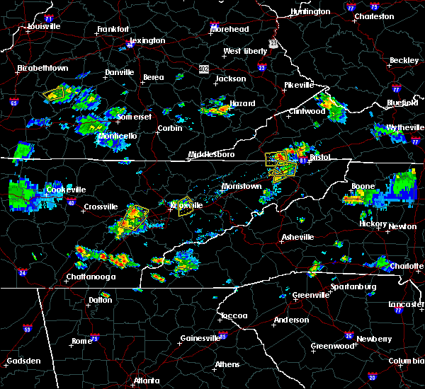 Radar Image for Severe Thunderstorms near Coalfield, TN at 7/5/2020 5:01 PM EDT