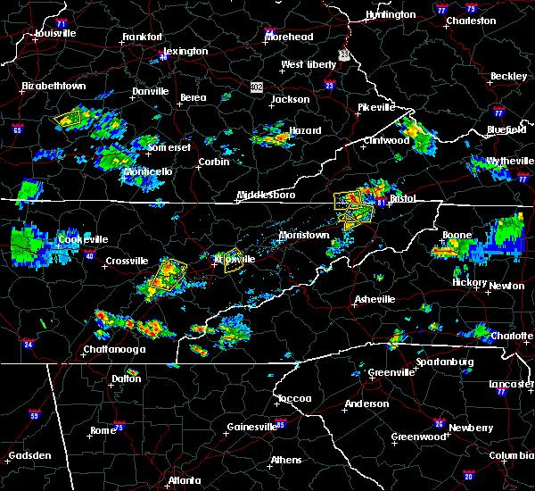 Radar Image for Severe Thunderstorms near Oak Ridge, TN at 7/5/2020 5:01 PM EDT