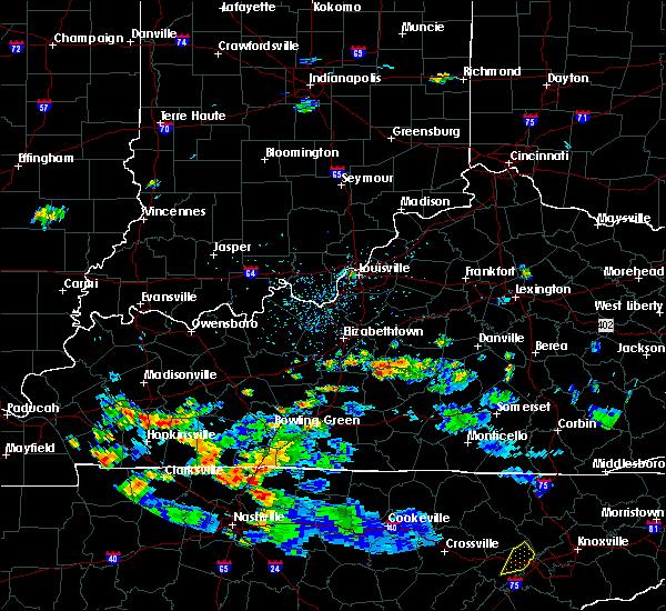 Radar Image for Severe Thunderstorms near Buffalo, KY at 7/5/2020 5:08 PM EDT