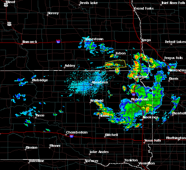 Radar Image for Severe Thunderstorms near Forman, ND at 7/5/2020 4:10 PM CDT
