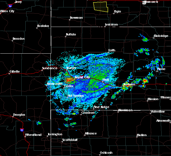 Radar Image for Severe Thunderstorms near Colonial Pine Hills, SD at 7/5/2020 3:13 PM MDT