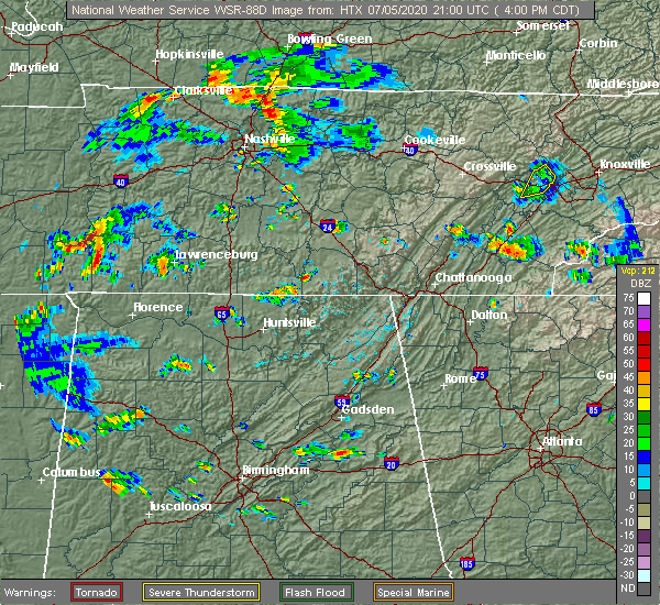 Radar Image for Severe Thunderstorms near Decatur, TN at 7/5/2020 5:14 PM EDT