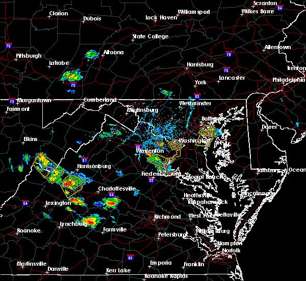 Radar Image for Severe Thunderstorms near Yorkshire, VA at 7/5/2020 5:15 PM EDT