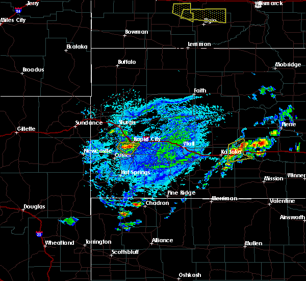 Radar Image for Severe Thunderstorms near Colonial Pine Hills, SD at 7/5/2020 3:32 PM MDT