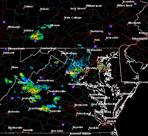 Radar Image for Severe Thunderstorms near Oak Grove, VA at 7/5/2020 5:41 PM EDT