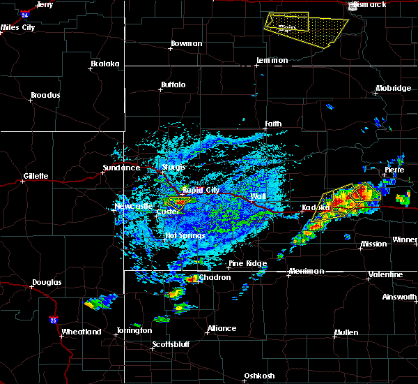 Radar Image for Severe Thunderstorms near Colonial Pine Hills, SD at 7/5/2020 3:47 PM MDT