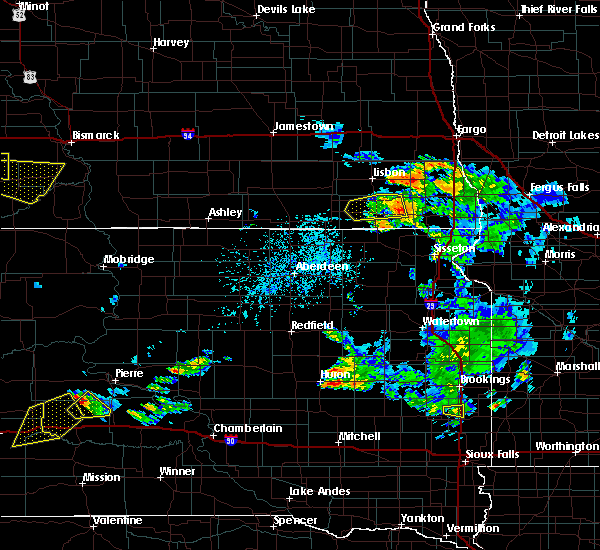 Radar Image for Severe Thunderstorms near De Lamere, ND at 7/5/2020 4:49 PM CDT