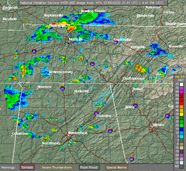 Radar Image for Severe Thunderstorms near Decatur, TN at 7/5/2020 5:54 PM EDT
