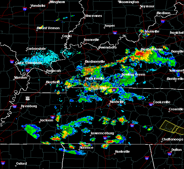 Radar Image for Severe Thunderstorms near Clarksville, TN at 7/5/2020 5:01 PM CDT