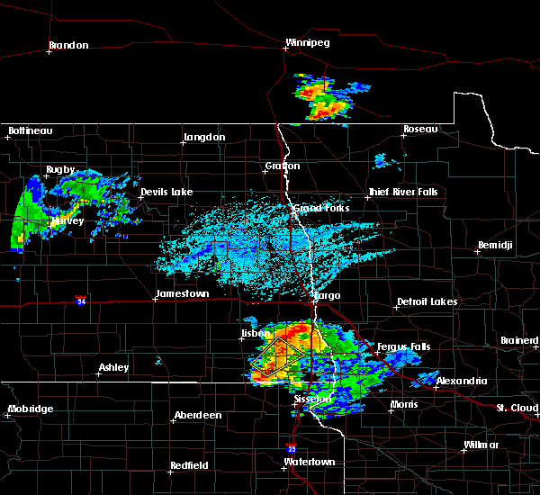 Radar Image for Severe Thunderstorms near Colfax, ND at 7/5/2020 5:07 PM CDT