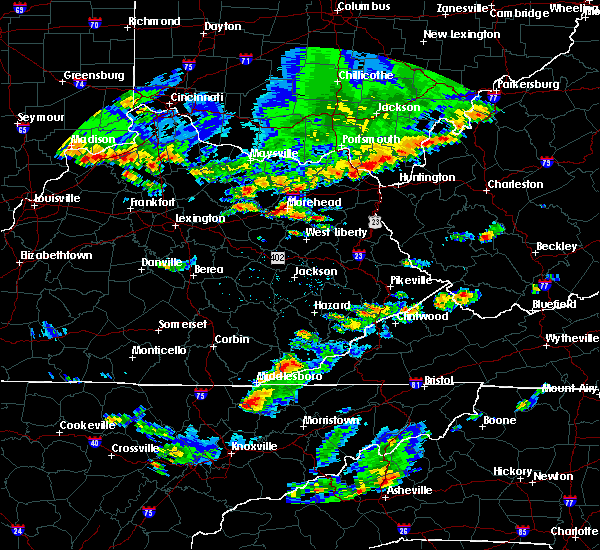 Radar Image for Severe Thunderstorms near Morehead, KY at 6/30/2015 5:11 PM EDT