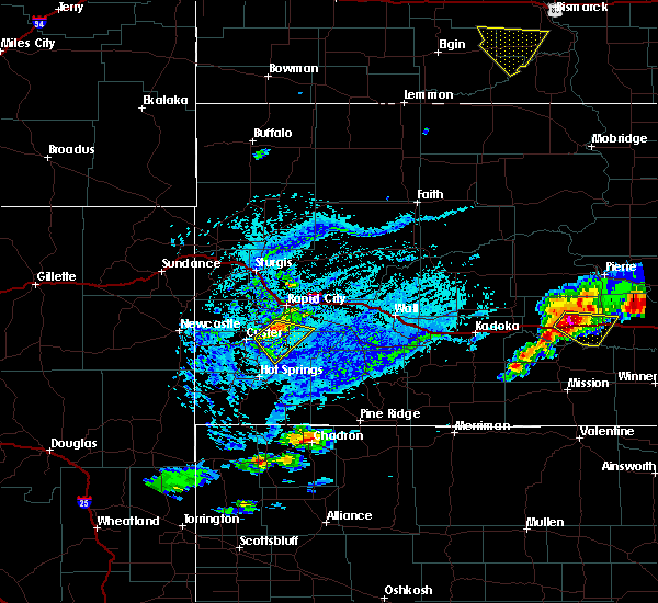 Radar Image for Severe Thunderstorms near Fairburn, SD at 7/5/2020 4:28 PM MDT