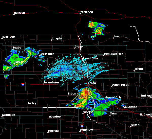Radar Image for Severe Thunderstorms near Colfax, ND at 7/5/2020 5:30 PM CDT
