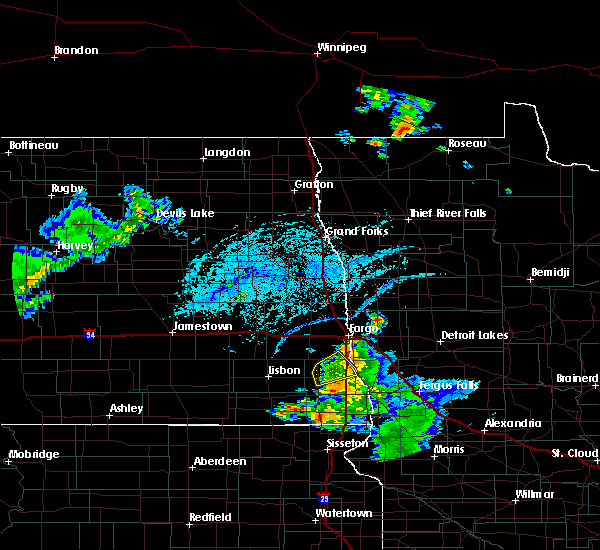 Radar Image for Severe Thunderstorms near Colfax, ND at 7/5/2020 5:44 PM CDT
