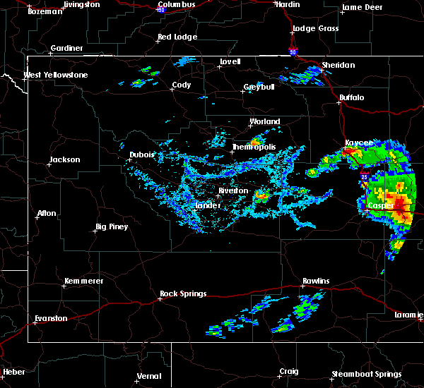 Radar Image for Severe Thunderstorms near Douglas, WY at 7/5/2020 4:46 PM MDT