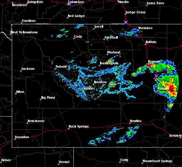 Radar Image for Severe Thunderstorms near Glenrock, WY at 7/5/2020 4:46 PM MDT