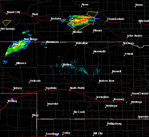 Radar Image for Severe Thunderstorms near Vivian, SD at 7/5/2020 6:17 PM CDT