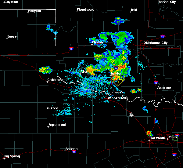 Radar Image for Severe Thunderstorms near Central High, OK at 7/5/2020 6:28 PM CDT
