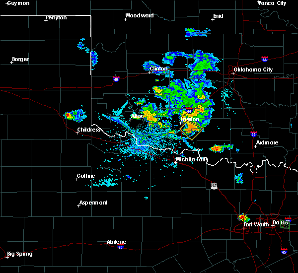 Radar Image for Severe Thunderstorms near Central High, OK at 7/5/2020 6:42 PM CDT