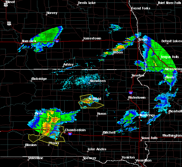Radar Image for Severe Thunderstorms near Kennebec, SD at 7/5/2020 6:45 PM CDT