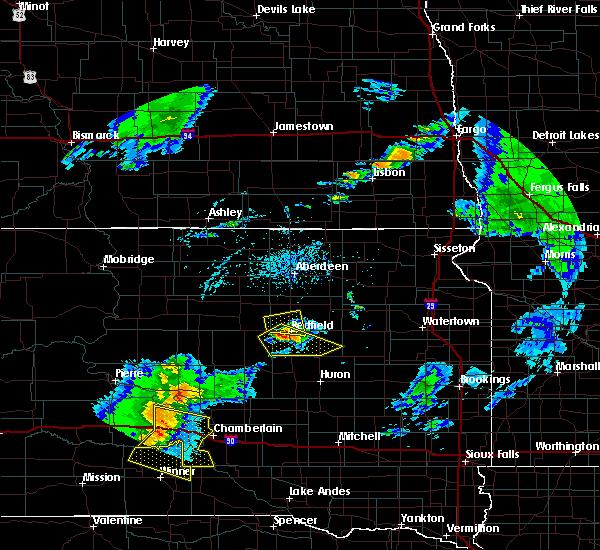 Radar Image for Severe Thunderstorms near Ashton, SD at 7/5/2020 6:53 PM CDT